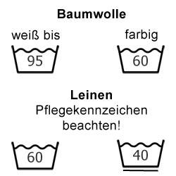 Baumwolle und Leinen waschen
