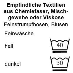 Empfindliche Textilien