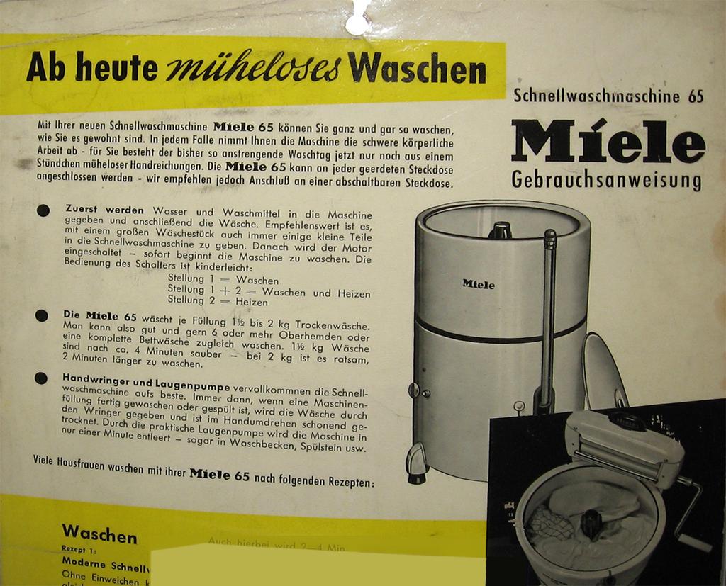 Wissen rund um die hauswirtschaft historische waschmaschinen